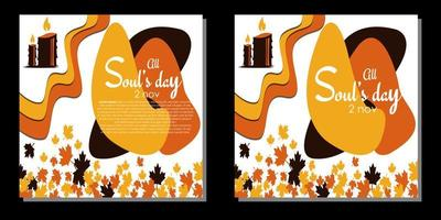 All Souls Day Vector Illustration. With candle and candlelight icon. Premium and luxury design template