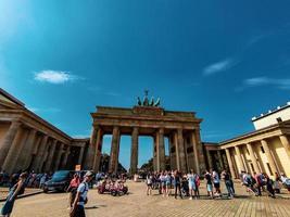 Berlin 2019-  Brandenburg Gate on a summer day photo