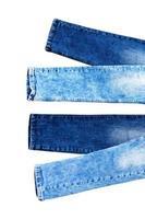 Denim fashion background isolated on white copy space photo