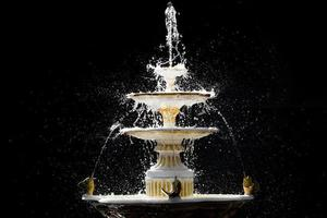 Isolated splash fountain photo