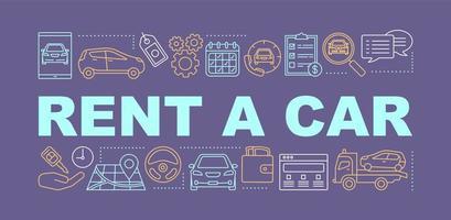 Car rental word concepts banner vector