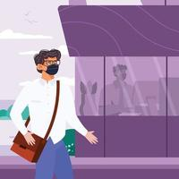 Man Back to Office Concept vector