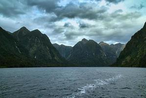 clouds over doubtful sounds, fiordland photo