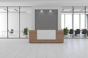 Office Reception Desk Mockup interior design photo