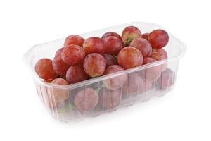 Grape cluster in plastic container photo
