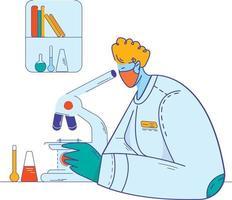 Scientists doing scientific experiments vector