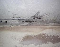 damaged reinforced concrete rebars photo