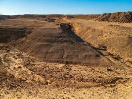 volcanic landscape in the desert photo