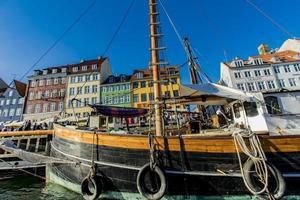 COPENHAGEN, DENMARK, JUNE 13, 2018 - Detail from Nyhavn in Copenhagen, Denmark. Nyhavn is a 17th century waterfront and entertainment district in Copenhagen. photo