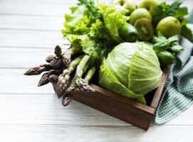 Healthy vegetarian food concept photo