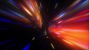 dark multicolored  hyperspace warp tunnel video