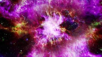 galaxy exploration through outer space grunge towards cloud nebula video