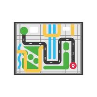 map city with marker vector