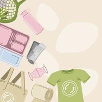 ecological reusable accessories vector