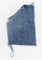 denim fabric swatch sample photo