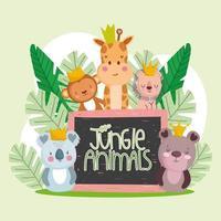 cute wild animals vector