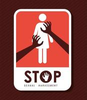 cartel de agresión sexual vector
