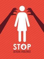 cartel de ataque sexual vector