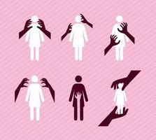 seis elementos de acoso sexual vector