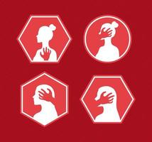 cuatro artículos de violencia sexual vector