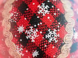 Christmas ornament macro photo close-up details. Christmas mood. Toned photo