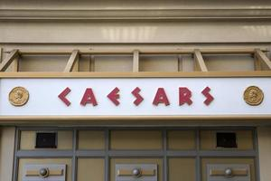 ATLANTIC CITY, USA, AUGUST 26, 2017 - Detail from Caesars hotel and casino in Atlantic City, USA. It is opened in 1979 and today have more than 3400 slot machines and 1158 hotel rooms. photo
