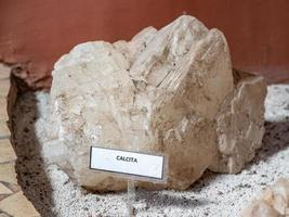Goiania, Goias, Brazil, 2019 - Calcite a carbonate mineral photo