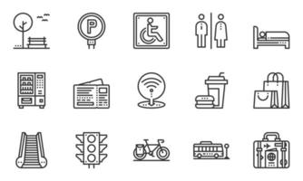 Elements City And Street Line Icon vector