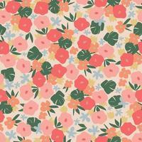 Vector cute retro color contemporary small flower illustration seamless repeat ditsy pattern fashion textile digital art
