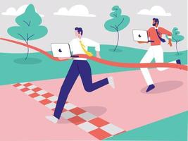 Deadline concept illustration, Time management vector