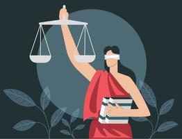 Justice flat illustration concept vector