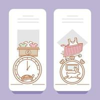 slow and fast fashion consumption vector