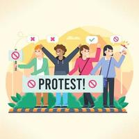 acción de protesta activista vector