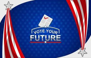 Bright Future of US Election Background vector