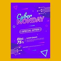 Festive Cyber Monday Special Offer Poster vector