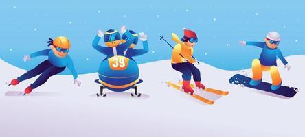 Winter Sport Character vector