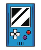 old videogame portable device vector