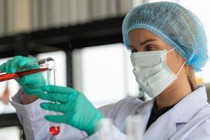 Women in the chemistry laboratory photo