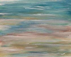 Background Abstract horizontal painterly lines and waves photo