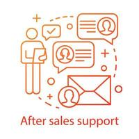 After sales support concept icon vector
