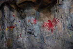 Goiania, Goias, Brazil, 2019 - Replica of cave paintings photo