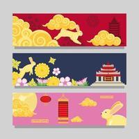 mid autumn chinese vector