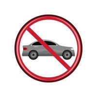 prohibition sign car vector