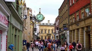 Shopping area at Stonegate Street in York City, England video