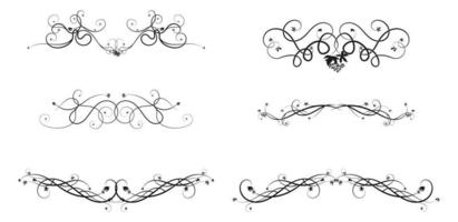 grape ivy pattern elements for ornament construct vector