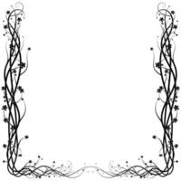 ivy frame from a wild plant on a white background vector