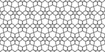 Floral line seamless pattern in oriental style, delicate ornament, black and white texture vector