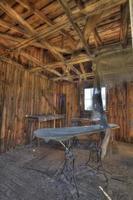 tabla de planchar de época, histórica lavandería bodie foto