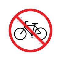 No bicycle sign. vector