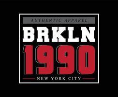 Brooklyn Typography Vector T-shirt Design